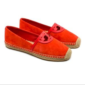 Tory Burch Sidney Espadrille-Nat Suede red canyon